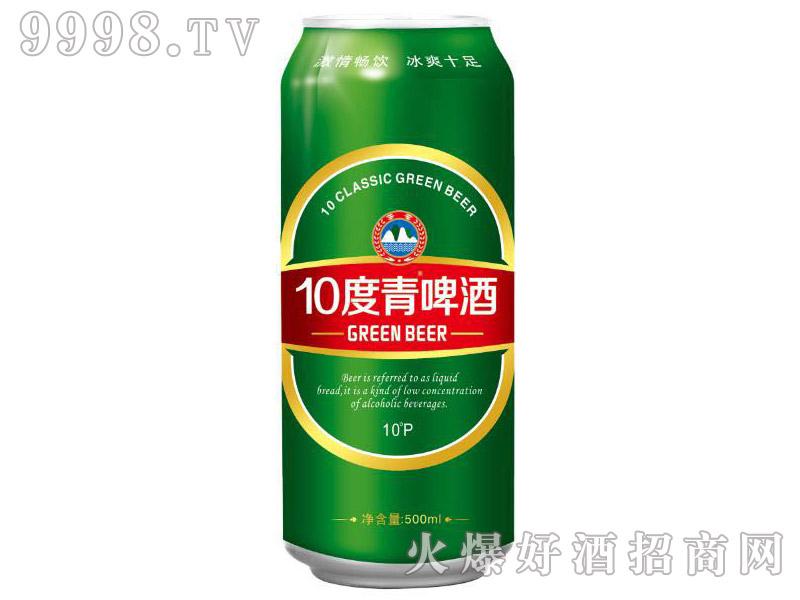 10度青啤酒500ml