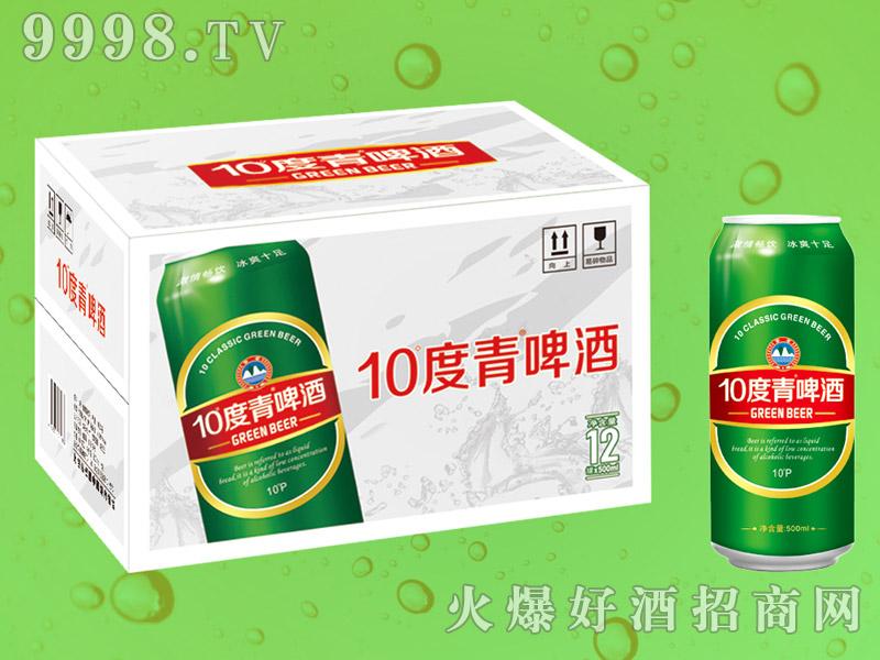 10度青啤酒500mlX12罐(白箱)