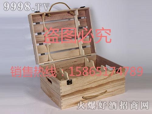 海源工艺・多支白橡木酒盒