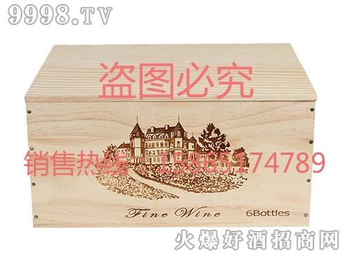 海源工艺・高档白橡木酒盒