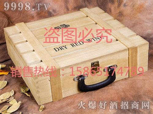 海源工艺・米黄色酒盒