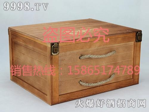 海源工艺・深木色酒盒