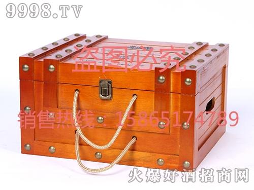 海源工艺・深色橡木酒盒