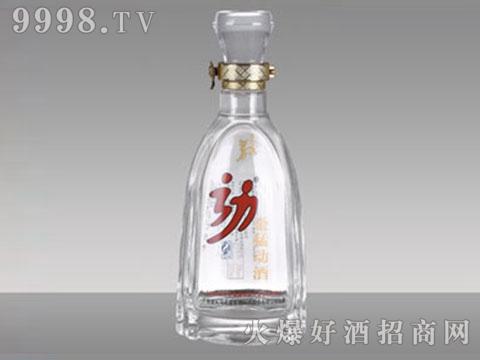 高白玻璃酒瓶R-036劲酒500ml