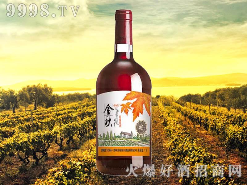 金秋红葡萄酒1L