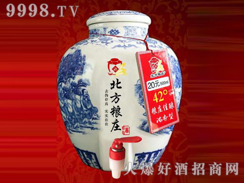 北方粮庄青花瓷坛酒・42度粮庄佳酿