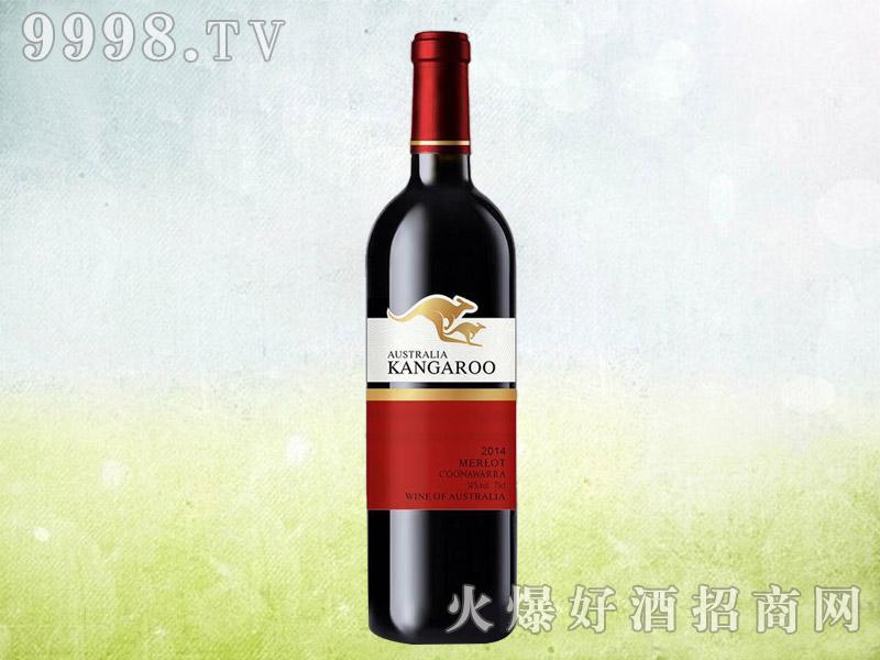 澳族袋鼠美乐干红葡萄酒