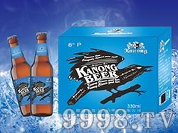 卡农啤酒蓝爵330m棕瓶