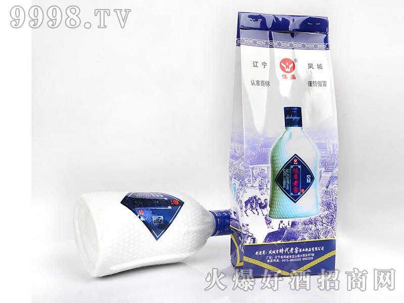 凤城时代陈年老窖酒套袋40°50°450ml
