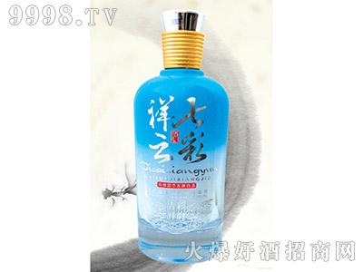 郓城龙腾包装精美雕刻瓶C-031七彩祥云蓝瓶