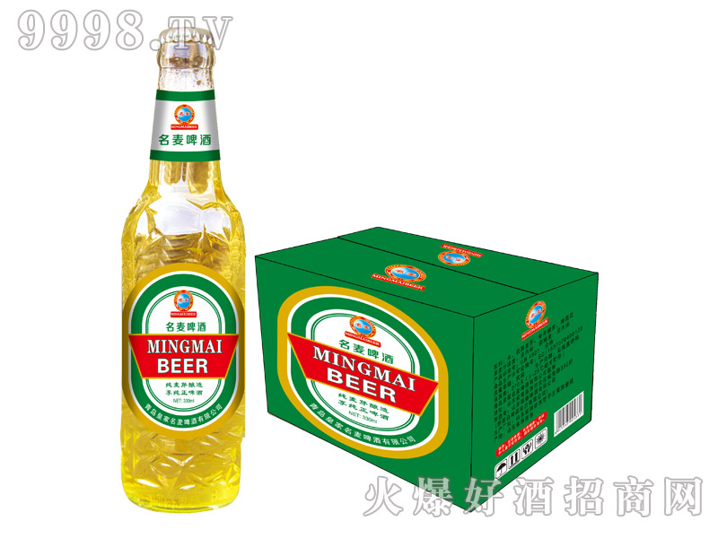 青岛名麦啤酒・纯麦芽(白瓶)