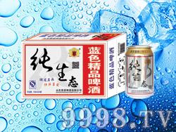 海润德纯生态蓝色精品啤酒330ml×24罐、500ml×12、24罐