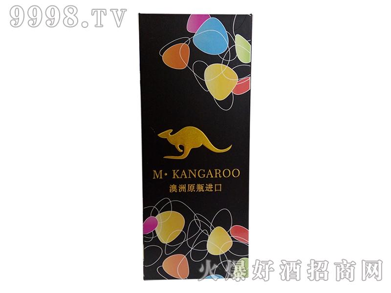 黄米袋鼠葡萄酒盒