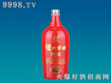 大华喷涂玻璃瓶泸州窖酒YTP-092-500ml