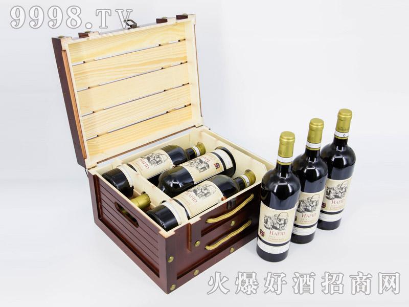 法国・海菲古堡珍藏干红葡萄酒・六支礼盒装