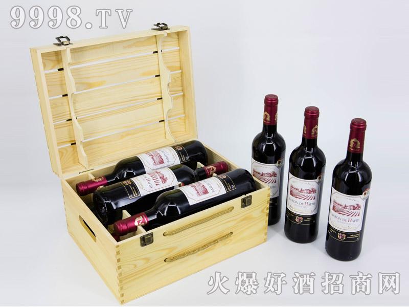法国・海菲干红葡萄酒・六支镂空礼盒