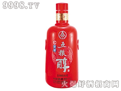 奥星彩瓶五粮醇红淡雅CP-220