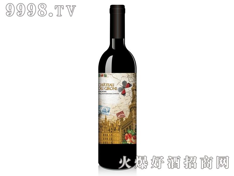 历史追忆录之麒麟古堡梅洛干红葡萄酒