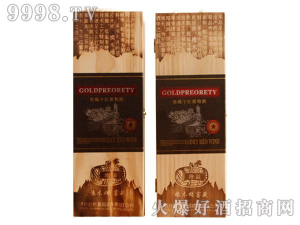 嘉隆橡木桶陈酿葡萄酒木盒750ml