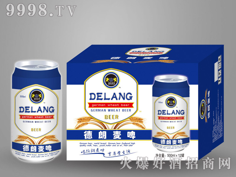 德朗麦啤500mlx12罐