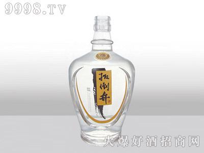 郓城龙腾包装精白玻璃瓶-518黄标扳倒井-500ml