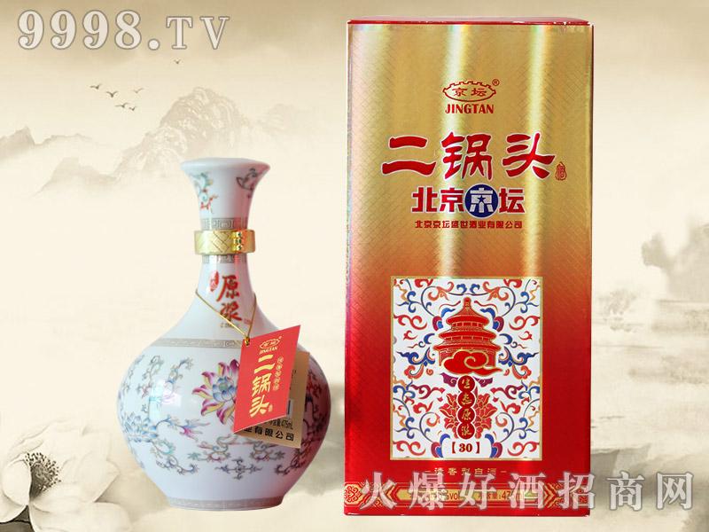 北京京坛二锅头酒生态原浆30 52°500ml(红)