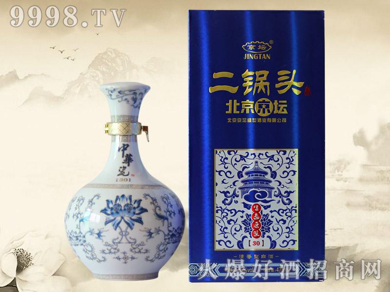 北京京坛二锅头酒生态原浆30 52°500ml(蓝)