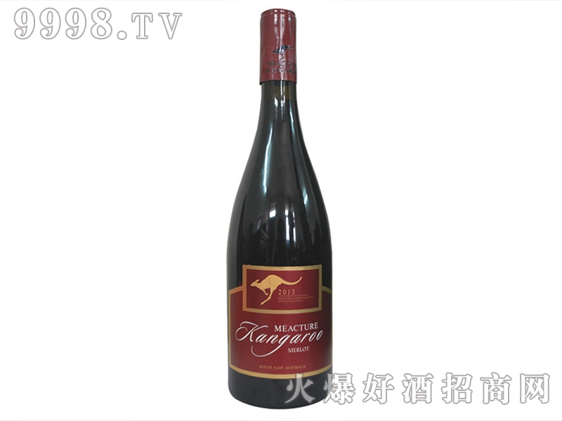 米爵袋鼠・美乐干红葡萄酒