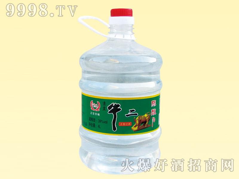 京皇牛二陈酿酒39度4L(白)
