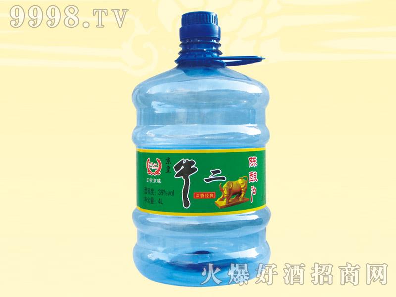 京皇牛二陈酿酒39度4L(蓝)