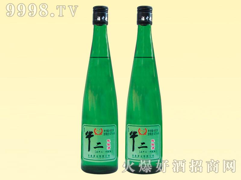 京皇牛二陈酿酒480ml(绿瓶)