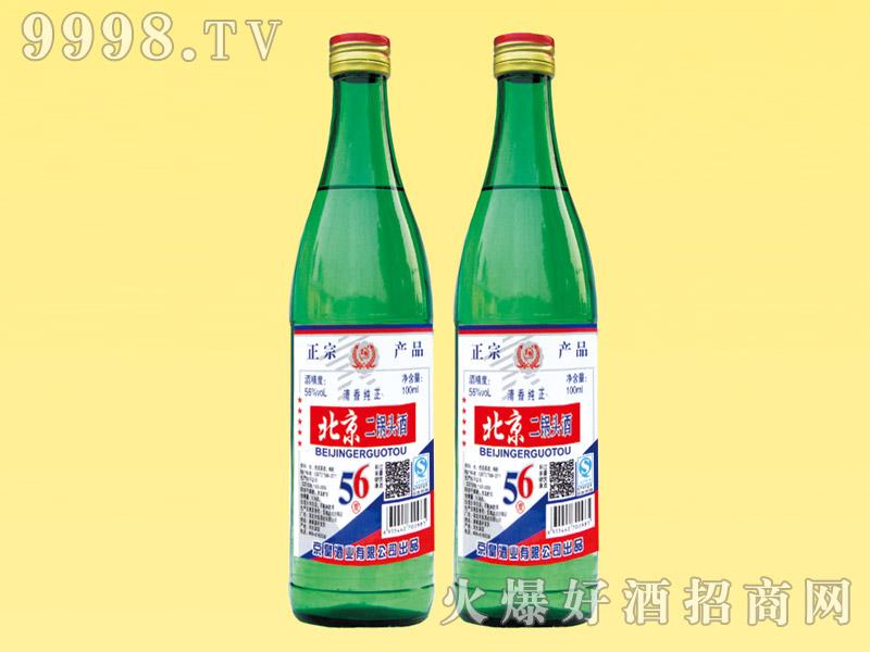 京畅北京二锅头酒56度清香纯正500ml(绿瓶)