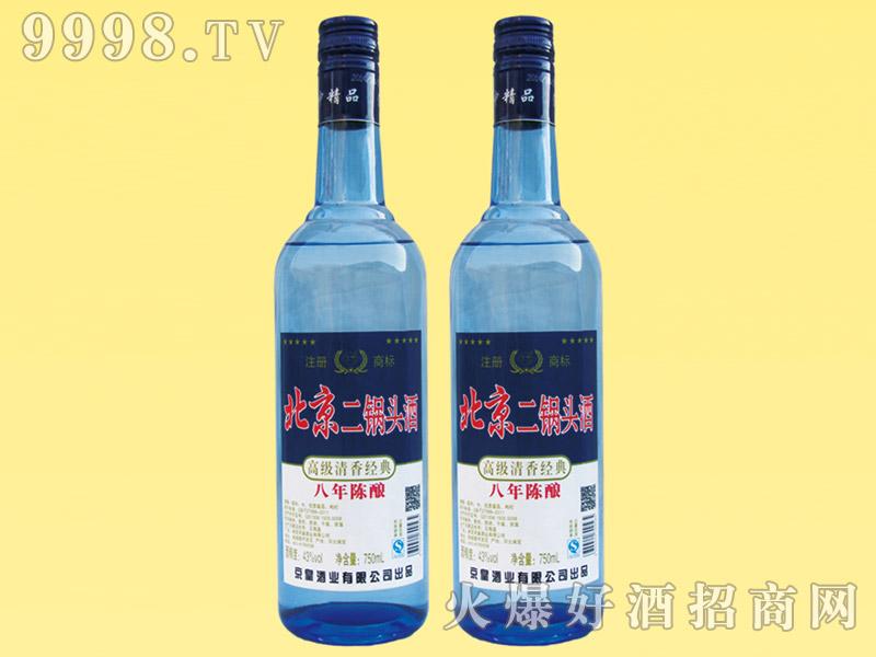北京二锅头酒陈酿8-750ml(蓝瓶)