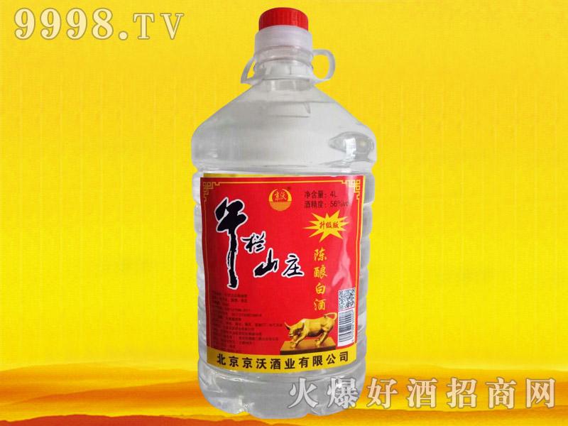 京沃牛栏山庄陈酿白酒4L