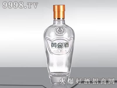 华鹏晶白玻璃瓶黄金酒ZHJ-005