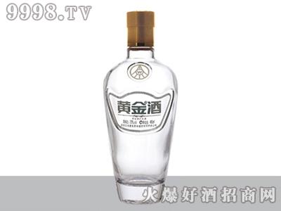 华鹏晶白玻璃瓶黄金酒ZH-J-156-500ml