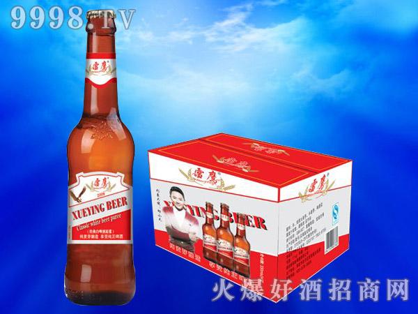雪鹰经典白啤酒原浆330ml(红箱)