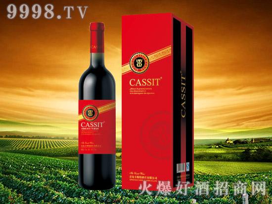 青岛卡斯特珍藏蛇龙珠干红葡萄酒
