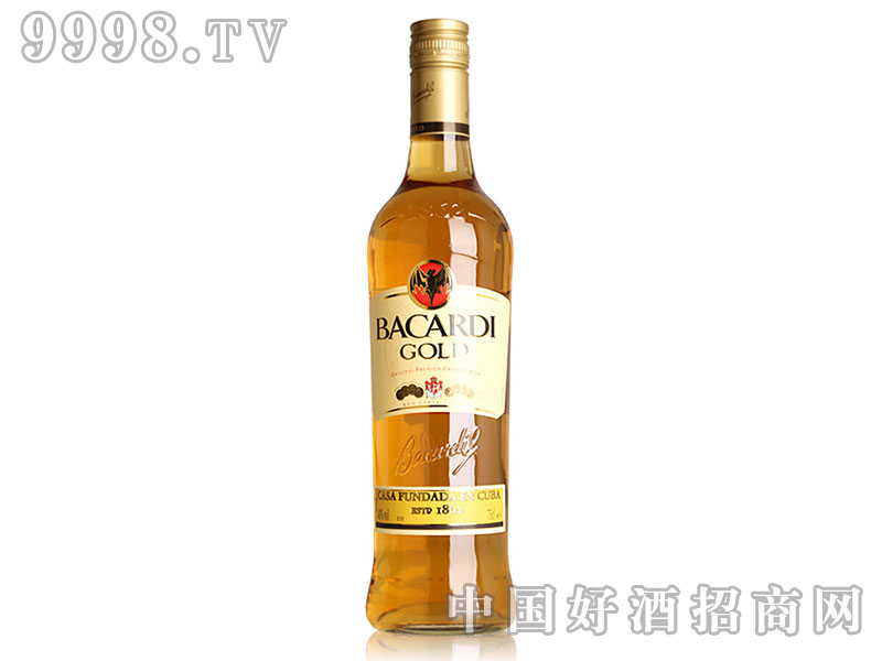百加得金BACARDI朗姆酒烈酒-750ml