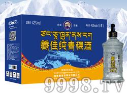 藏佳纯青稞酒450mlx4
