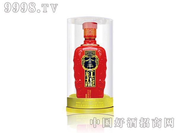 全丰红花龙酒玻璃盒-白酒招商信息