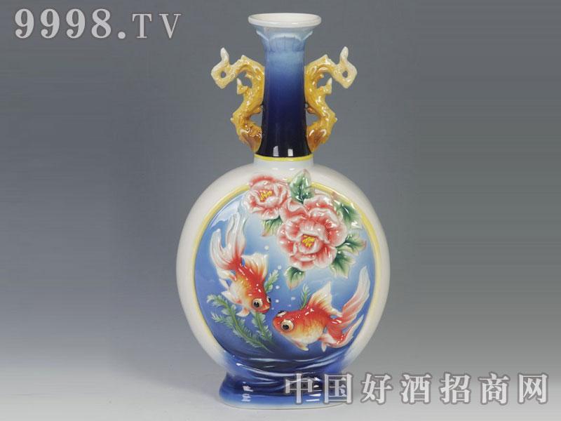 三雄陶瓷酒瓶-金玉满堂