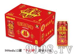 """""""千喜威""""喜酒9.9度500ml×12罐"""