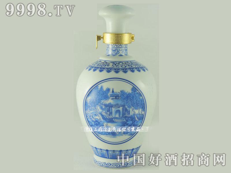 景德镇青花玲珑-封缸定制瓶