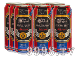 崂金泉黑啤塑包易拉罐500ml×9罐