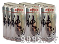 崂金泉10°纯生啤酒塑包易拉罐500ml×9罐