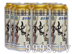 崂金泉纯生啤酒塑包易拉罐500ml×9罐