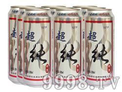 崂金泉超干啤酒塑包易拉罐500ml×9罐