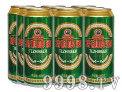 崂金泉特制啤酒塑包易拉罐500ml×9罐