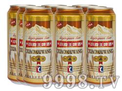 崂金泉小麦王啤酒塑包易拉罐500ml×9罐